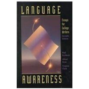 9780312137472: Language Awareness: Essays for College Writers