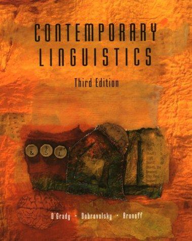 9780312137496: Contemporary Linguistics: An Introduction