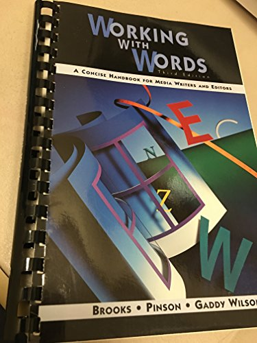 9780312137601: Working With Words: A Concise Handbook for Media and Editors