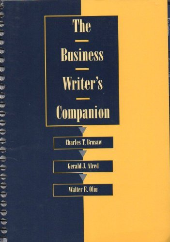 9780312137892: The Business Writer's Companion (Series)