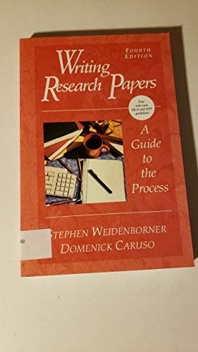 9780312142254: Writing Research Papers: A Guide to the Process