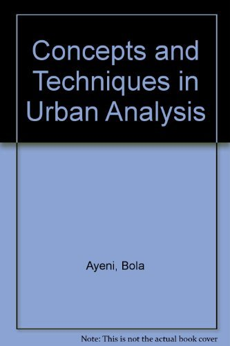 9780312160449: Concepts and Techniques in Urban Analysis