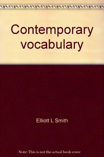 Contemporary vocabulary: Elliott L Smith