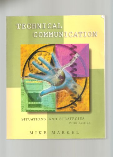 9780312170875: Technical Communication: Situations and Strategies