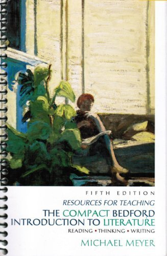 9780312171384: Resources for Teaching - The Compact Bedford Introduction to Literature, 5th edition