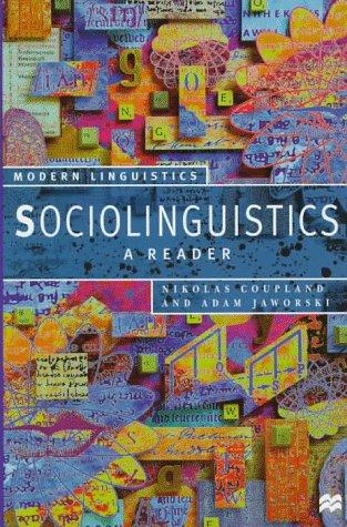 9780312175726: Sociolinguistics: A Reader (Modern Linguistics Series)