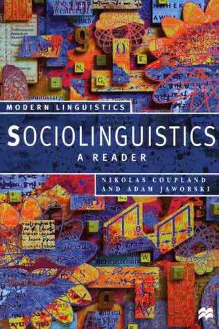 9780312175733: Sociolinguistics: A Reader (Modern Linguistics)