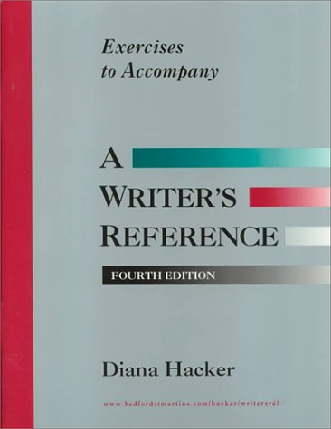 9780312191962: Exercises to Accompany a Writers Reference