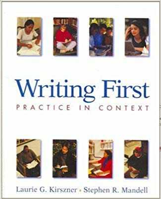 9780312193805: Writing First: Practice in Context With Readings