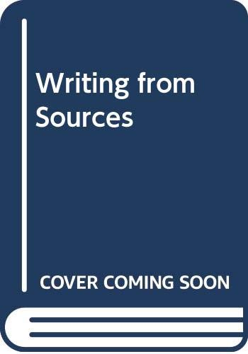 9780312194291: Writing from Sources