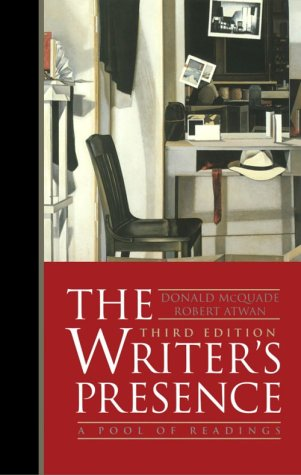 9780312197674: The Writer's Presence: A Pool of Readings