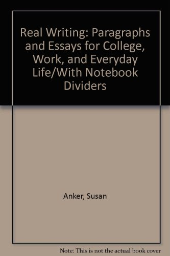 9780312198190: Real Writing: Paragraphs and Essays for College, Work, and Everyday Life/With Notebook Dividers