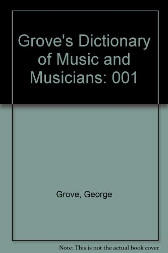 9780312202309: Grove's Dictionary of Music and Musicians