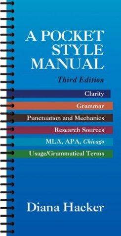 9780312204884: A Pocket Style Manual