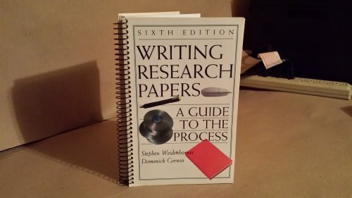 9780312206925: Writing Research Papers: A Guide to the Process