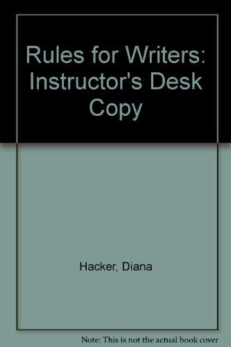 9780312208530: Rules for Writers: Instructor's Desk Copy