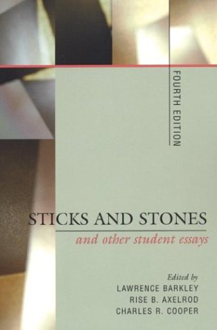 9780312209834: Sticks and Stones and Other Student Essays