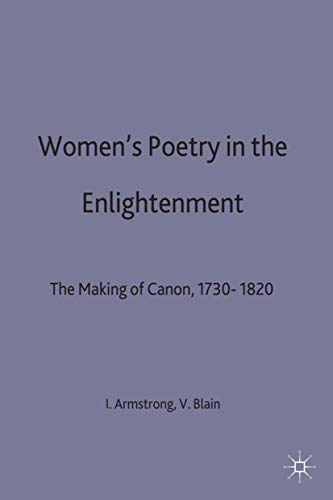 9780312212827: Women's Poetry in the Enlightenment: The Making of a Canon, 1730–1820