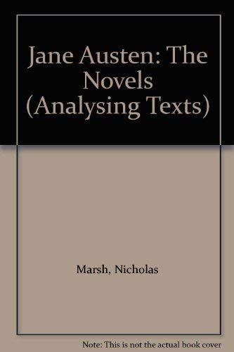 9780312213701: Jane Austen: The Novels (Analysing Texts)