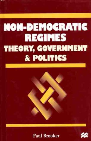 9780312227548: Non-Democratic Regimes: Theory, Government and Politics (Comparative Government and Politics)