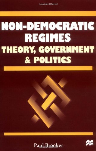 9780312227555: Non-Democratic Regimes: Theory, Government and Politics