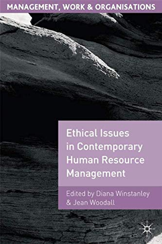9780312228743: Ethical Issues in Contemporary Human Resource Management (Management, Work and Organisations)