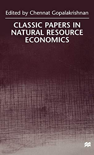 9780312230142: Classic Papers in Natural Resource Economics