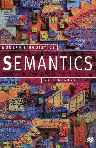 9780312231835: Semantics (Modern Linguistics)