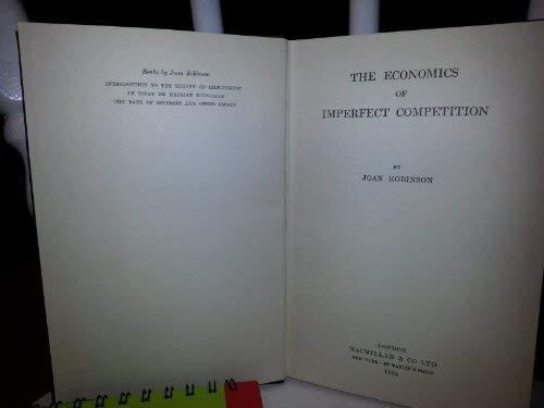 9780312233808: Economics of Imperfect Competition
