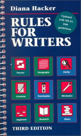 9780312247768: Rules for Writers: 1999 Mla Update