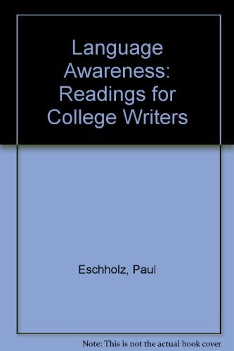 9780312247850: Language Awareness: Readings for College Writers