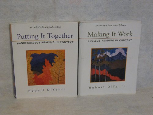 9780312247904: Putting It Together: Basic College Reading in Context