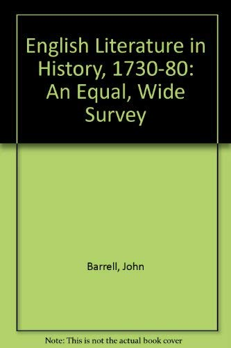 9780312254339: English Literature in History, 1730-80: An Equal, Wide Survey