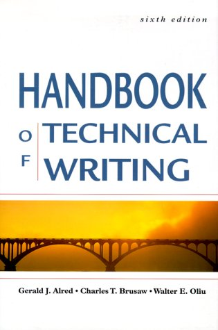 9780312254964: The Handbook of Technical Writing, Sixth Edition