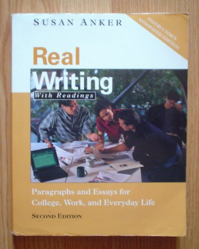 9780312258092: Real Writing with Readings
