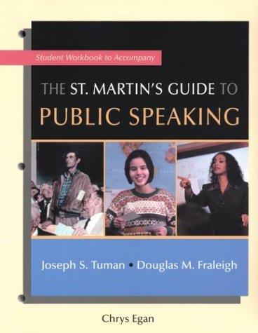 Workbook to Accompany The St. Martin's Guide: Chrys Egan, Joseph