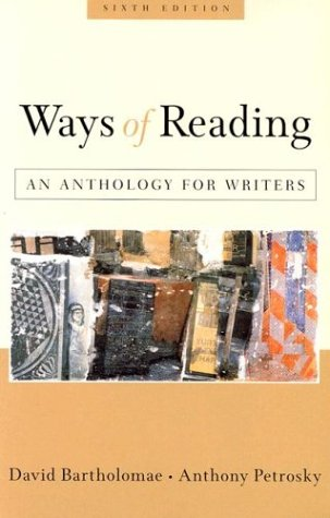 anthology essays david bartholomae Ways of reading, eleventh edition, by david bartholomae anthony petrosky stacey waite, (9781319040147, 1319040144) buy or rent.