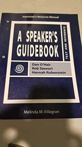 9780312259563: A Speaker's Guidebook