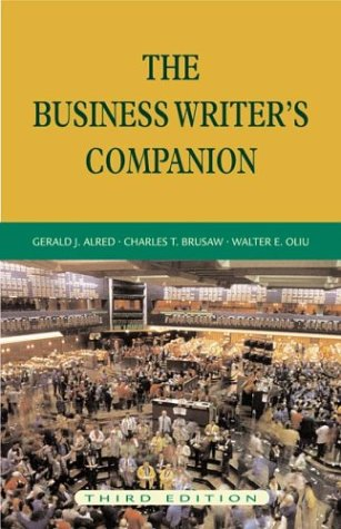 9780312259778: The Business Writer's Companion