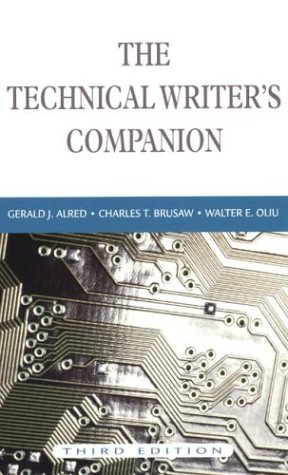 9780312259785: The Technical Writer's Companion, 3rd Edition