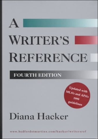9780312260378: A Writer's Reference: With MLA's and APA's 1999 Guidelines