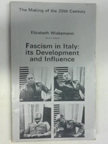 9780312283858: Fascism in Italy: Its Development and Influence