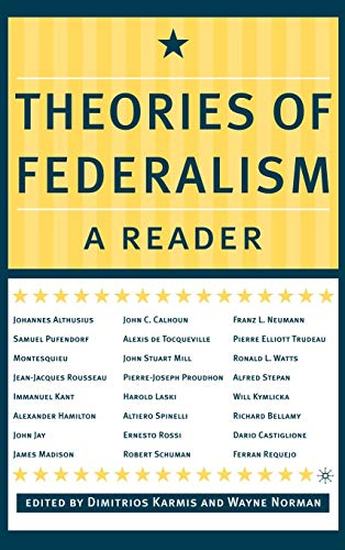 9780312295806: Theories of Federalism: A Reader