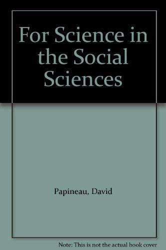 9780312298128: For Science in the Social Sciences