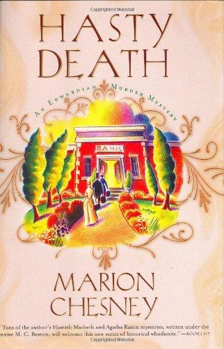 9780312304539: Hasty Death: An Edwardian Murder Mystery (Edwardian Murder Mysteries)