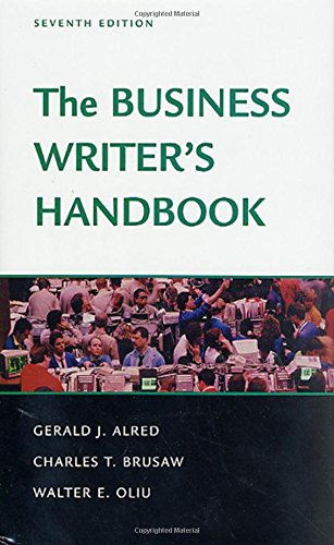 9780312309220: The Business Writer's Handbook: Seventh Edition