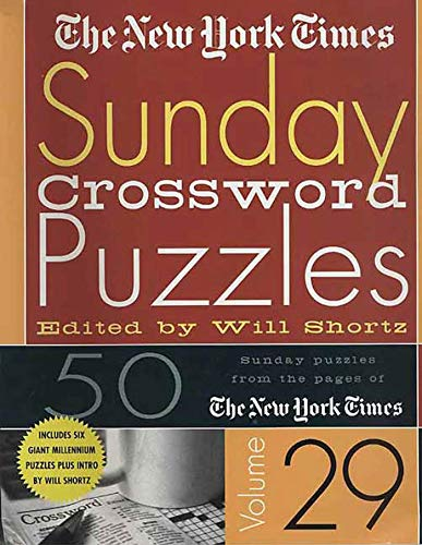 9780312320386: The New York Times Sunday Crossword Puzzles Volume 29: 50 Sunday puzzles from the pages of The New York Times