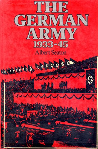 9780312325220: The German Army, 1933-45