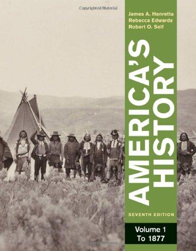 9780312387914: America's History, Volume 1: To 1877