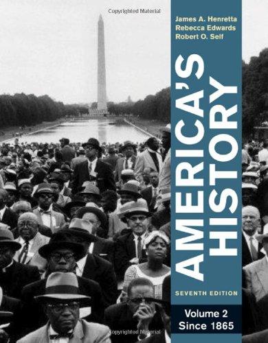 9780312387921: America's History, Volume 2: Since 1865